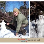 La Cumbrecita,snowman,funny snowman,building a snowman,how to build a snowman