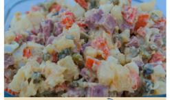 Traditional Russian Salad, Olivier's Salad, Russian Salad, Сала́т оливье́